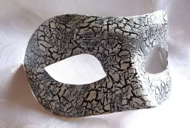 Genuine Venetian Designer Mask Black & White